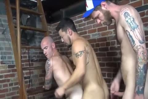 unprotected three-some With Interracial Hunks