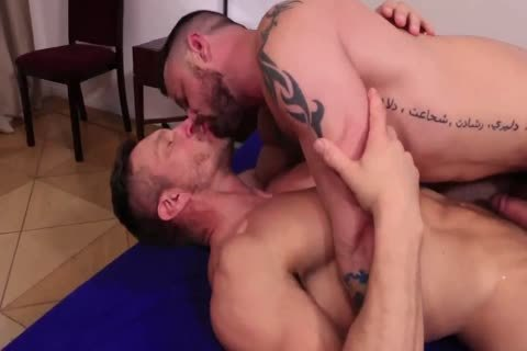 Hard cock Muscle Hunks Flip nail
