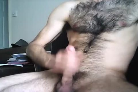 bushy Hung dude shoots A large Load
