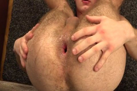hairy homo Gaping With cumshot