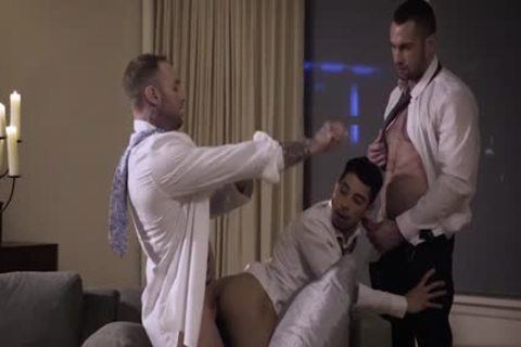 Muscle gay threesome With ball batter flow