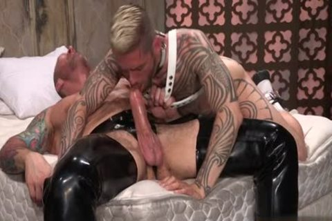 Lusty gay rimjob and ejaculation
