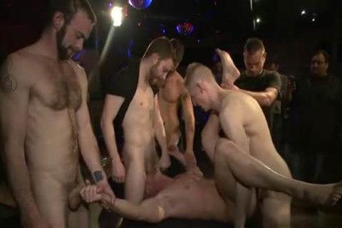 Muscle gay tied And goo flow