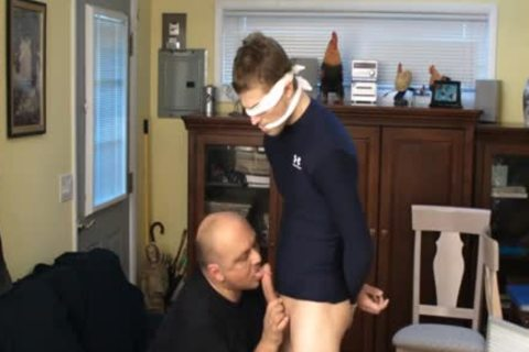 Straight Captive Lad, Fastened And Gagged, Made To goo