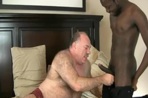 DADDY BEAR ENJOYS WITH darksome penis