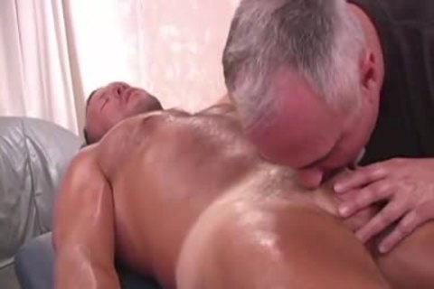 Brock receives Massaged And poked