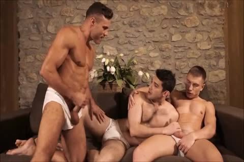 Three wild Hunks bareback