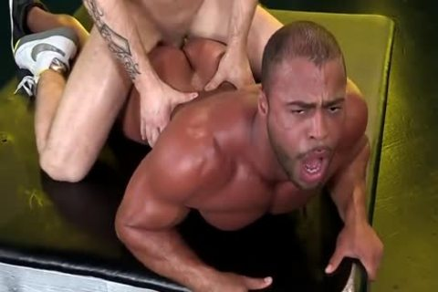 Muscle homosexual oral job sex and facial