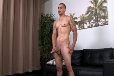 Hung muscular Hunk Stroking His biggest Uncut weenie