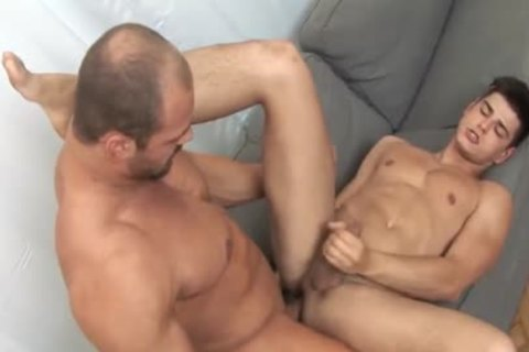Muscle daddy concupiscent Lad