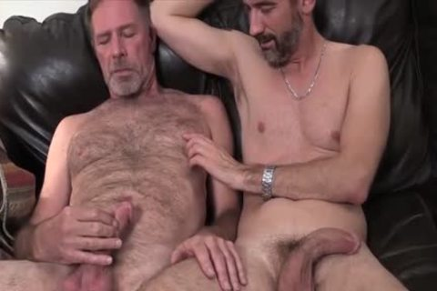 Two Dads hammering On The sofa pounded