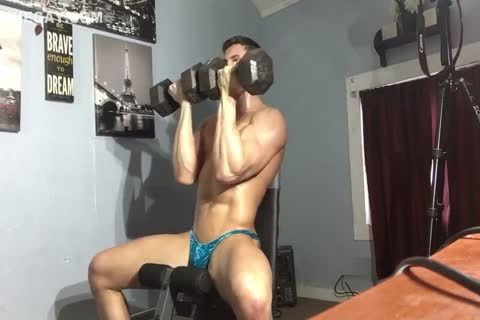 Drenched Muscle & Sweat trickling From Pants