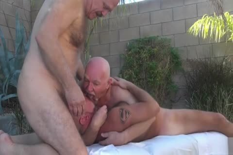 Backyard hardcore Two Daddies On boy