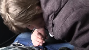 Super charming eighteen years old Czech blows in a taxi
