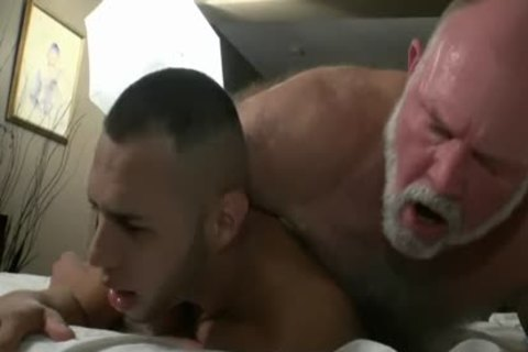 hairy grand-dad Has messy Sex With A juicy juvenile wang
