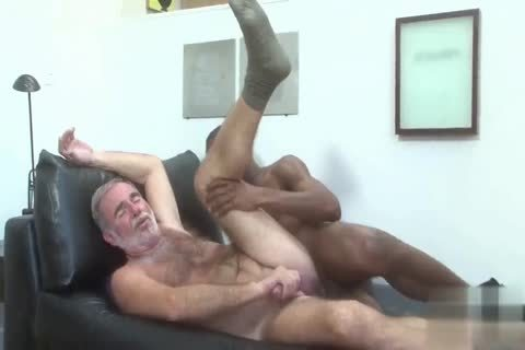 handsome Silver Daddy nailed By black young Muscle