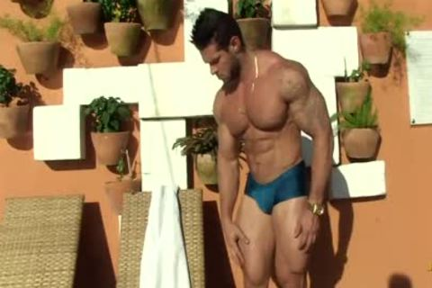 Gil Baiano - Clay Stone - lusty Oiled Hung Bodybuilder