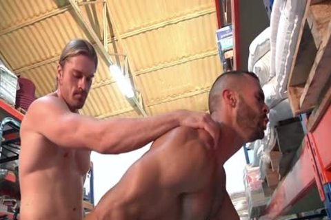 Two dirty Hunks Take Turns pounding Each Other.