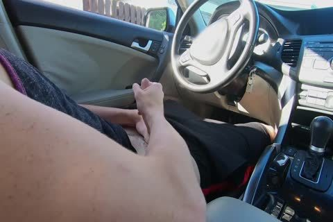 man Watches Other man wank His weenie In The Car whilst In Public