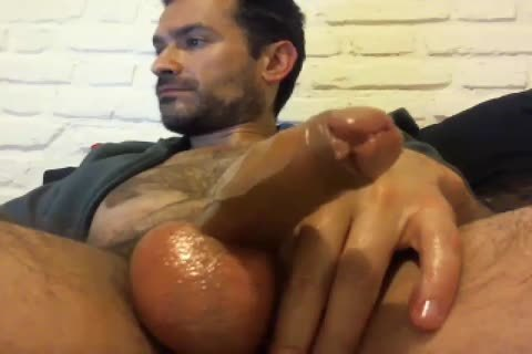 Oiled Up Daddy likes To jack off Himself Off