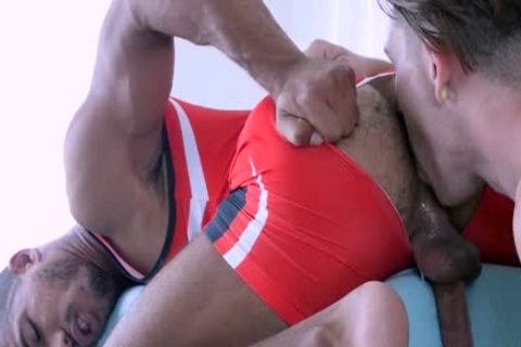 ManRoyale Wrestler Goes For Gold With muscular Hunk