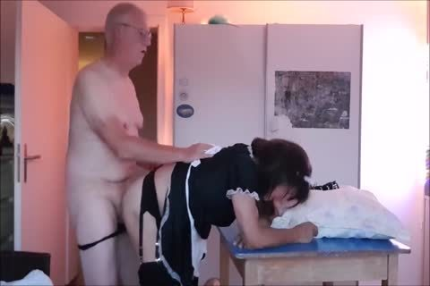 Maid Sissy Cleans house Sucks cock gets poked