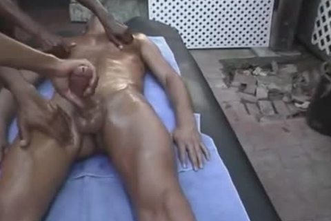 Mega cock Four-hands-massage
