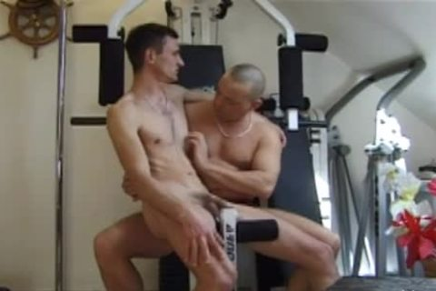 concupiscent males Have A cute plow At The Gym