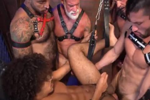 Dereks Leather Daddy group fuck Pt two