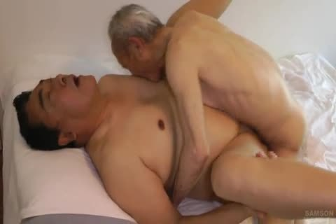 Japanese fat Daddy Sex With giant knob old man