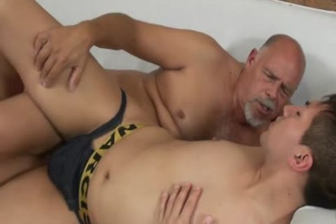 Smooth twink Barefucked By daddy chunky man