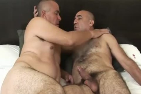 enchanting Latin old Daddy Sucks & receives fucked By bushy old chap