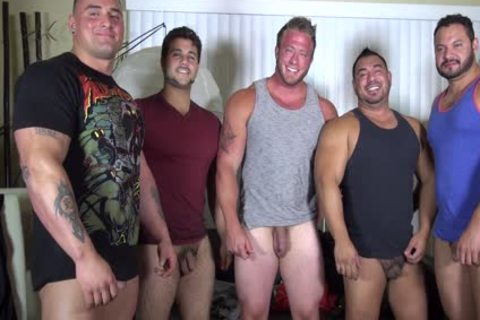 in nature's garb Party @ LATINO Muscle Bear house - amateur fun W/ Aaron Bruiser