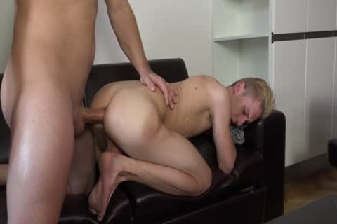 Little Blond chap's intend to get His arse banged