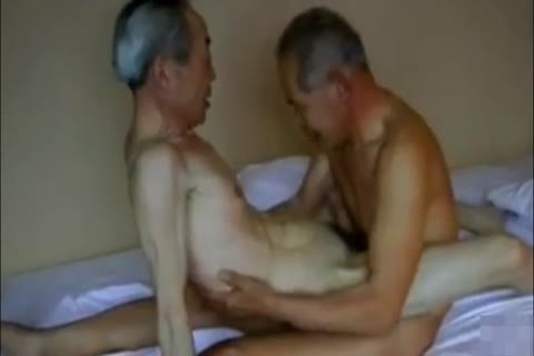 Two charming And sleazy Japanese grand-dad's fuck And suck!