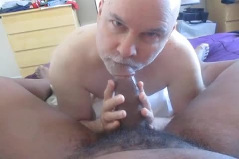 engulfing BBC And A Bruvah's Balls.  What's Not To take up with the tongue?