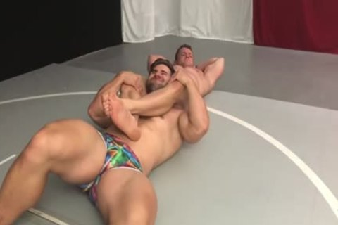 Muscle Hunks Wrestling Some greater amount