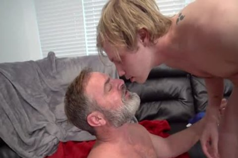 Skinny Fit Stepson Cums In Stepdad's face hole