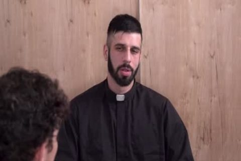 Sinful guy Punished By pretty Priest
