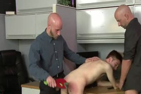 Youthful homosexual Assistant Has A Three-some With His Office Managers