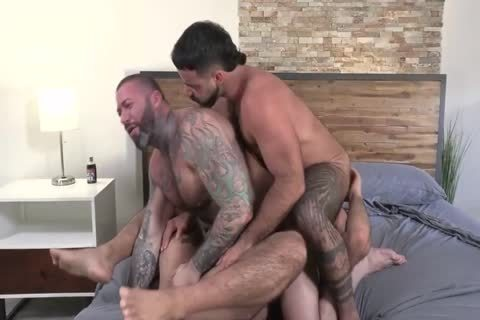 three Muscle Hard Sex