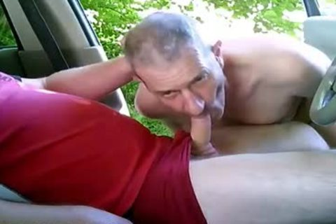 concupiscent gay men On Car Have Some Public And Outdoor Sex