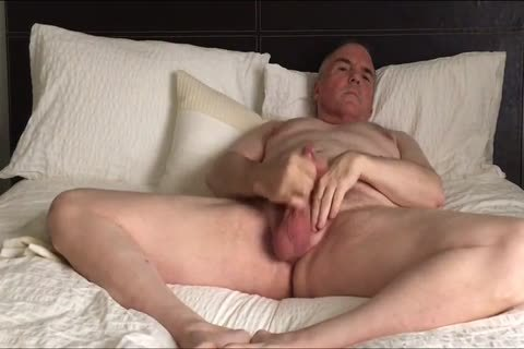 Stroking My small cock And Eating My Load