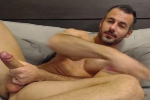 Full Show: tasty Straight Daddy Eats His Creamy Load