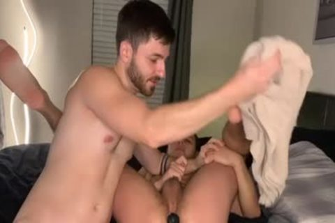 two boys suck Their booties And penises With vibrator In Their wazoo