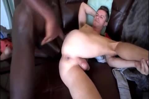 White twink receives His hole Filled By black 10-Pounder